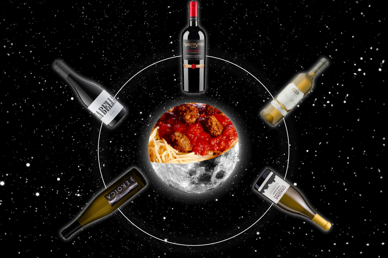 Photo for: Raining Wine with a Chance of Meatballs