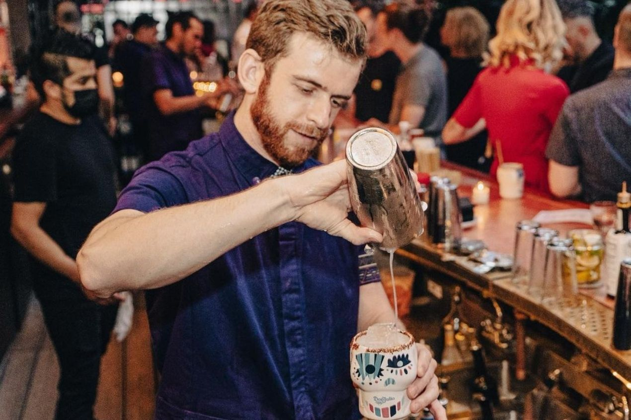 Photo for: Mixing cocktails at Employees Only with Matt Maretz