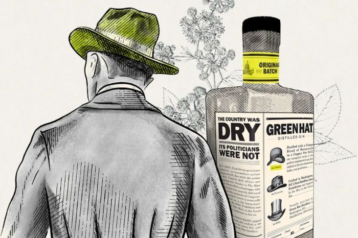 Photo for: Green Hat Citrus Floral Gin: A bottle worth looking at